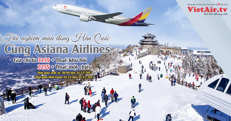 Khuyến mại của Asiana Airlines