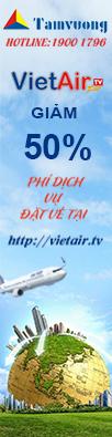 VietAir.tv khuyến mại 50% phí dịch vụ
